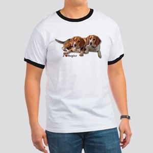 Two Beagles Ringer T